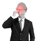 Le jeune machine des symptômes de mal de tête Rebecca 36 photographie stock