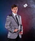 Jeune magicien Photographie stock libre de droits