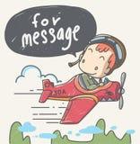 Le jeune pilote Image stock