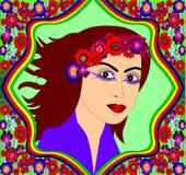 Le joli femme avec la veine Images libres de droits