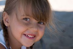 Le joli sourire de Hannah Photo stock