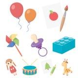 le jouet a rapporté l'ensemble d'icône illustration libre de droits
