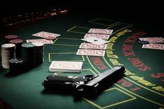 Le joueur dans le casino photographie stock libre de droits
