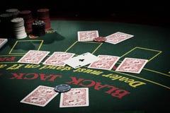 Le joueur dans le casino photos libres de droits