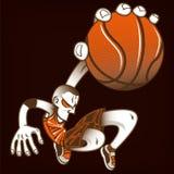 Le joueur de basket avec un long bras, claquement trempent l'image de vecteur illustration libre de droits