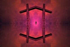 Le joueur de cannelure créant son univers illustration de vecteur