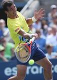 Le joueur de tennis professionnel Ivan Dodig pendant troisièmement le rond choisit le match à l'US Open 2013 images libres de droits