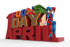 Le jour Clipart d'April Fool Images stock