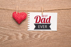 Le jour d'Â heureux de père de carte de voeux Photos stock