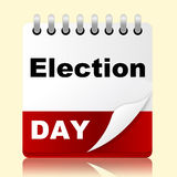 Le jour d'élection indique le scrutin et le rendez-vous de mois Image libre de droits