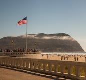 Le jour d'été americana de bord de la mer Image stock