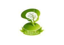 Le jour d'Alzheimer du monde illustration libre de droits