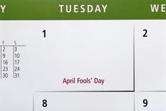 Le jour d'imbécile d'avril Photo stock