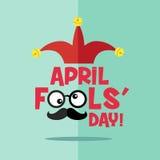 Le jour d'imbécile d'avril, typographie, colorée Image libre de droits