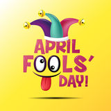 Le jour d'imbécile d'avril, typographie, colorée Images stock