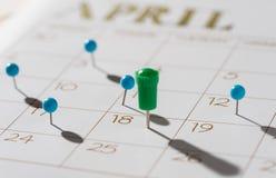 Le jour d'impôts pour 2016 retours est le 18 avril 2017 Image stock