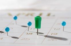 Le jour d'impôts pour 2016 retours est le 18 avril 2017 Images stock