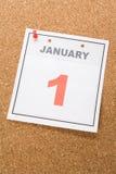 Le jour d'an neuf de calendrier Images stock