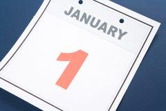 Le jour d'an neuf de calendrier Photos libres de droits