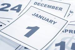 Le jour d'an neuf de calendrier Image libre de droits