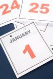 Le jour d'an neuf de calendrier Photographie stock