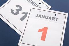 Le jour d'an neuf de calendrier Photos stock