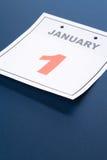 Le jour d'an neuf de calendrier Photo libre de droits