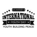 Le jour de la jeunesse Texte imprimé avec l'effacement d'articles Concevez votre bannière ou carte de voeux illustration de vecteur