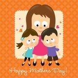 Le jour de mère heureux 2 illustration stock