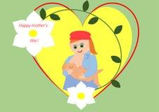 Le jour de mère heureux Photos libres de droits