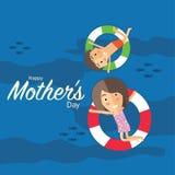 Le jour de mère heureux Image libre de droits