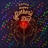 Le jour de mère heureux - carte illustration stock