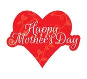 Le jour de mère heureux, Rose Illustration, exprimant la conception illustration stock