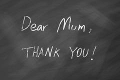 Le jour de mères vous remercient Photographie stock