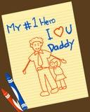 Le jour de père illustration libre de droits