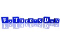 Le jour de père en cubes 3d Photographie stock libre de droits