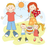 Le jour de père heureux Photo stock