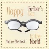 Le jour de père heureux Photo libre de droits