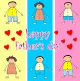 Le jour de père heureux Photographie stock libre de droits