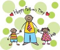 Le jour de père heureux - obscurité Image libre de droits