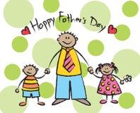 Le jour de père heureux - tan Images libres de droits