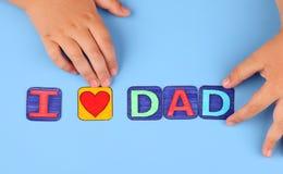 Le jour de père (papa d'amour d'I) Images stock