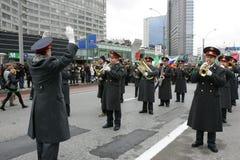 Le jour de Patrick de saint à Moscou Photographie stock
