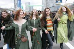 Le jour de Patrick de saint à Moscou Photo stock