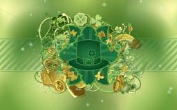 Le jour de Patrick de saint - chapeau vert Photos stock