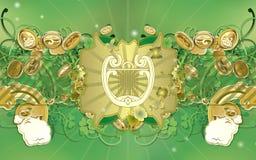 Le jour de Patrick de saint - harpe celtique Photographie stock libre de droits