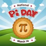 Le jour de pi, le 14 mars, mangent le tarte Photographie stock libre de droits