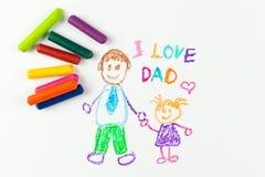 Le jour de père heureux Image libre de droits