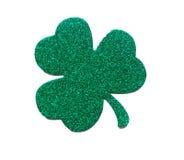 Le jour de St Patrick étincelant le trèfle vert Photo stock