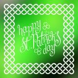 Le jour de St Patrick heureux dans le cadre celtique Photo stock